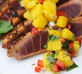 Hawaiian Blackened Tuna with Mango Salsa Recipe - Diet & Nutrition ...
