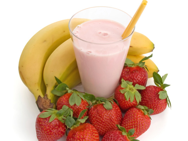 Strawberry, Banana, Flax Seed Smoothie